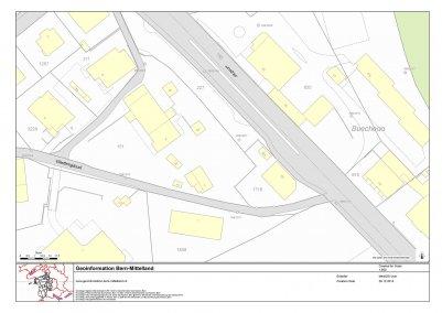 Situation 1:500 - Quelle: Geoinformation Bern-Mittelland